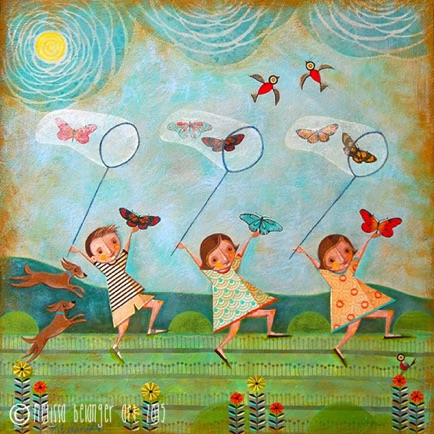 """The Butterfly Gatherers"" 2015 30""x30"""